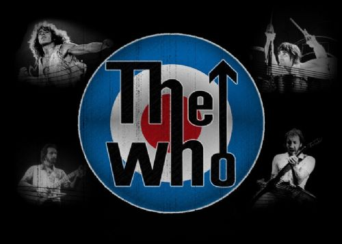 THE WHO - Band retro logo canvas print - self adhesive poster - photo print